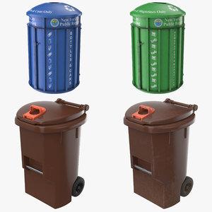 realistic trash bin pbr 3D