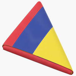 3D flag folded triangle colombia model