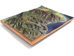 italy mountain landscape model