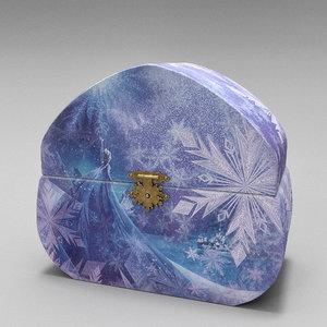 3D frozen music box model