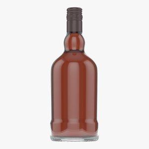 3D model whiskey bottle