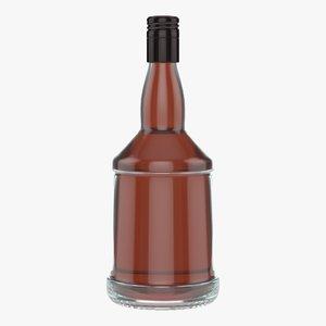 whiskey bottle model