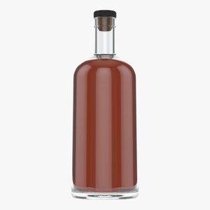 whiskey bottle 3D