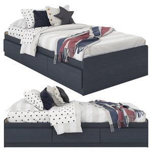 3D model linen bedding