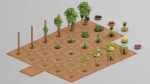 nature tree plant 3D