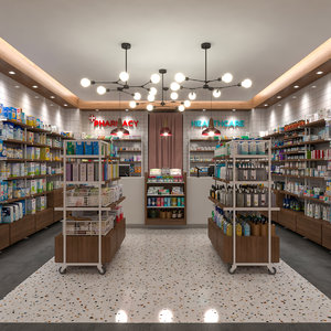 3D pharmacy healthcare store model
