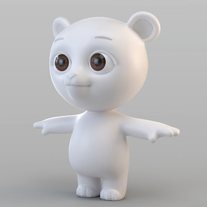 biped bear animation 3D model