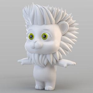 biped lion animation model