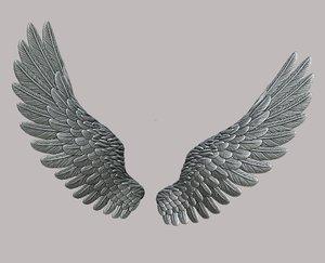 3D wings jewelry