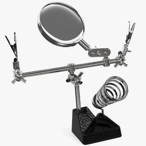 helping hands magnifier soldering 3D model