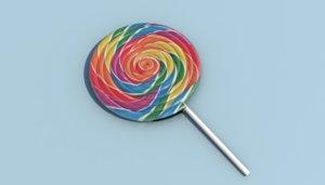 lollipop candy sweets lolli 3D model