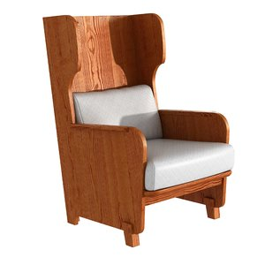chair axel einar hjorth 3D model