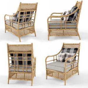 armchair rattan model