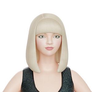 girl body 3D model