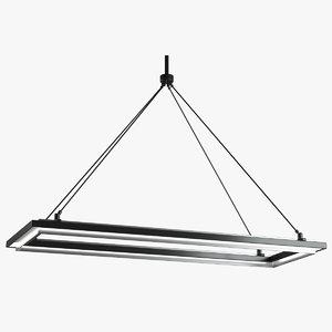 peralta chandelier linear 3D model