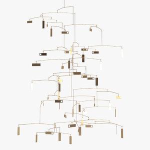 sculpture 40 chandelier 3D model