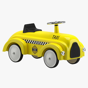 3D toy children scooter car