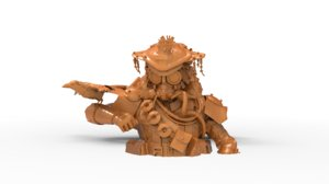 apex bust bloodhound printed model