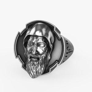 ring saint charbel makhlouf 3D model