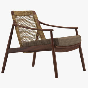 3D model hartmut lohmeyer armchair furniture