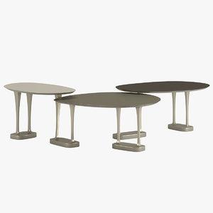 3D henge coffee table mushroom furniture model