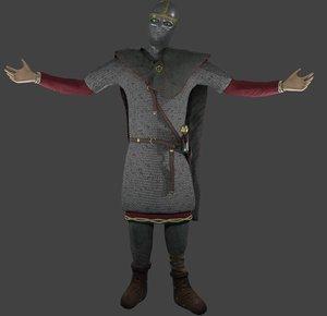3D model viking huscarl