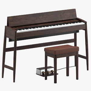 kf10 piano stool 3D model