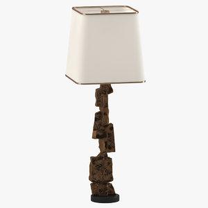 3D large brutalist cubist lamp
