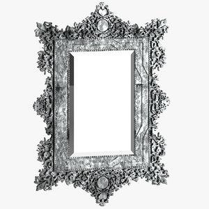 mirror 07 antique furniture 3D
