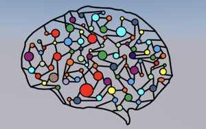 brain graphic art 3D model