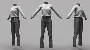 female clothing 18 3D model