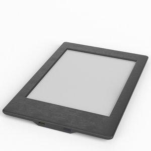 3d amazon kindle paperwhite ebook