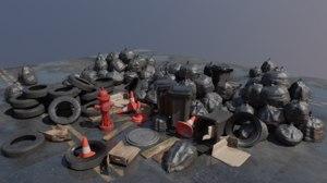street carton trash 3D model