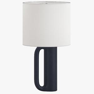 christian liaigre prao table lamp model