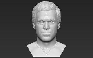3D dexter morgan bust printing model