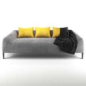 jean-marie massaud carmel sofa 3D model