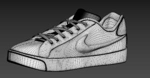 3D nike court royale model