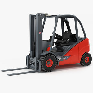 electric forklift linde e30 3D model