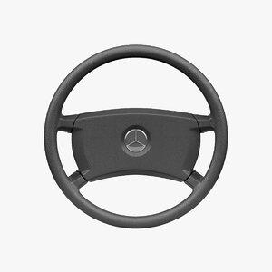 mercedes-benz 190 e steering wheel 3D