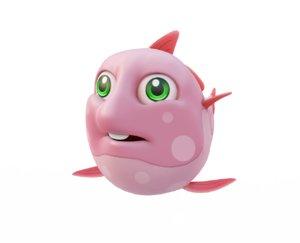 opah moon fish toon 3D model