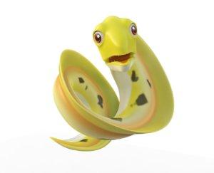 morey eel fish toon model