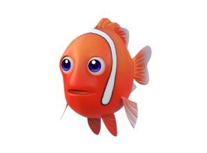 tomato fish animation model