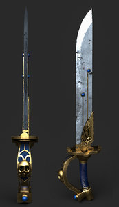 3D swords weapon model
