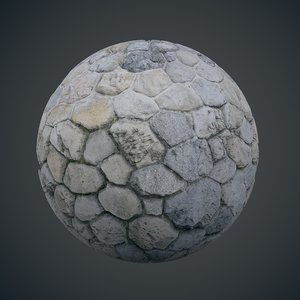 Rounded stone wall