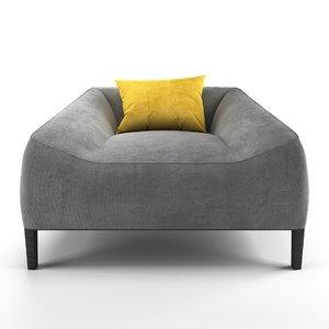 3D model jean-marie massaud carmel easy chair