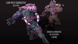 character caiman model