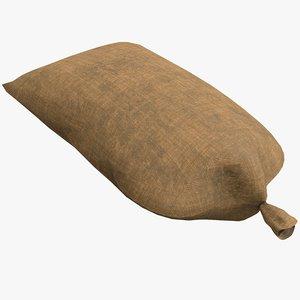 pbr sandbag sand 3D