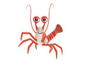 3D camel shrimp toon fish