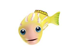 bluestripe snapper fish toon 3D model