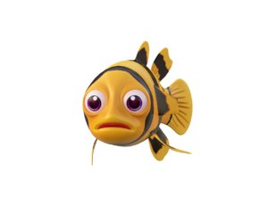 bumblebee goby fish toon 3D model